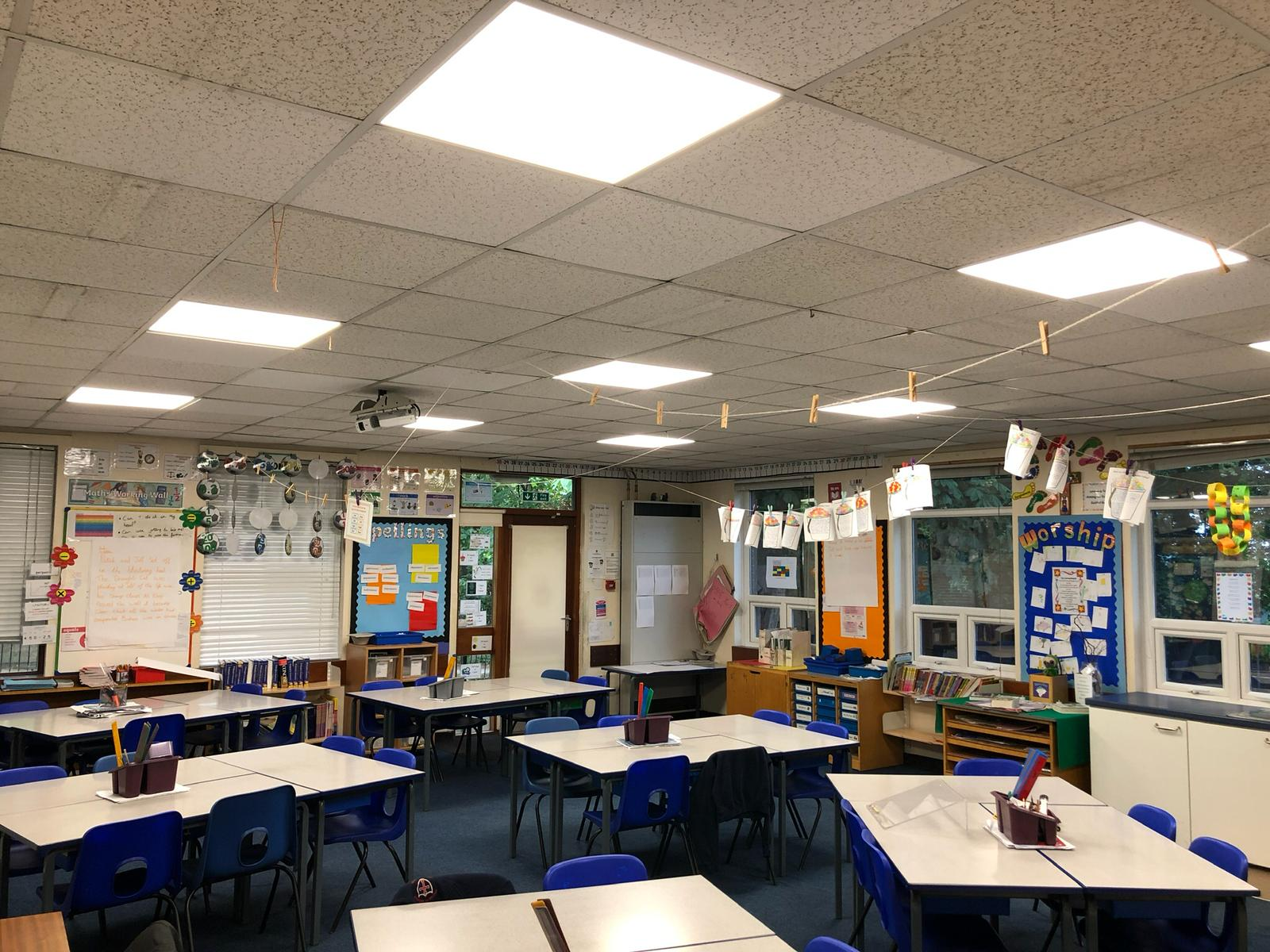 LED Lighting in a School